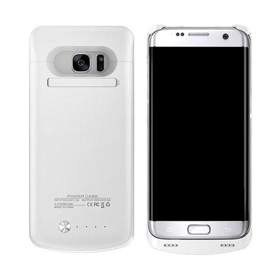 Image sur Pochette Power Bank Pour Samsung Galaxy S7 Edge 5200mAh - Blanc - 2 Mois