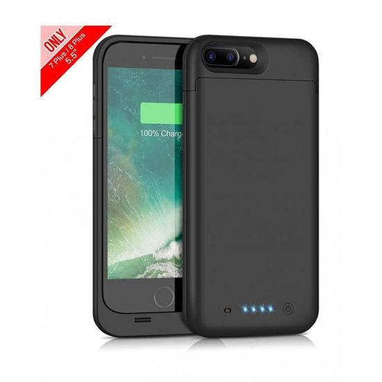 """Image sur Pochette Power Bank Ultra Slim Pour iPhone 7 Plus, 8 Plus (5.5"""") - Noir - 6 Mois"""