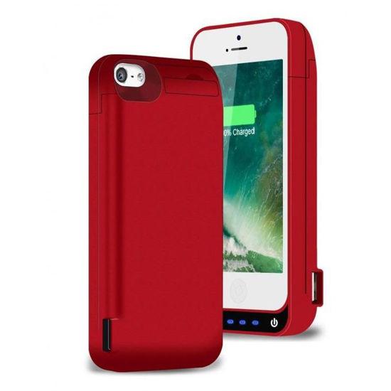 Image sur Pochette Power Bank Pour iPhone 5 /5c /5s - BSWHW- 4200 mAh - Rouge