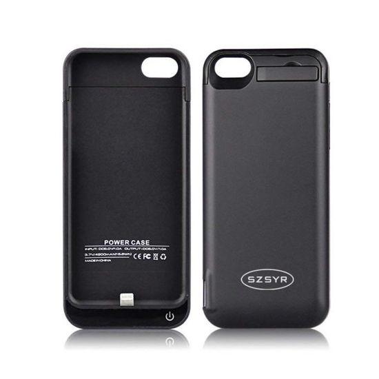 """Image sur Pochette Power Bank Pour Iphone 5/5S - 4200 mAh - 4"""" - Noir"""