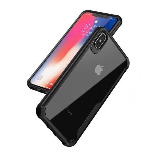 Image sur Coque KumWum Pour IPhone Xs - Antichoc - Technologie Air Cushion + Glace De Protection - Noir - 12 Mois