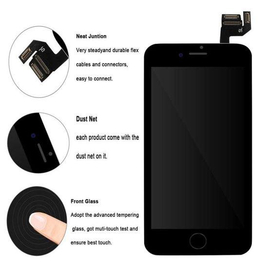 Image sur Afficheur LCD de remplacement pour iPhone 6s Noir 4.7 (inch) LCD avec Kit de réparation et bouton de maison, Haut-parleur oreille, Appareil photo avant, Capteur de proximité - noir - 12 Mois