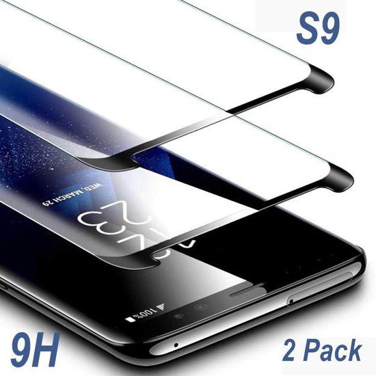 """Image sur Protecteur D'Écran Samsung Galaxy S9, (5.8 """") En Verre Trempé (Paquet De 2) [Résistant À La Force Jusqu'À 11 Livres] - Verre"""