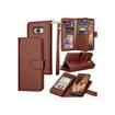 Image sur Pochette en cuir et PU - magnétique et détachable pour Samsung S8 + Porte-monnaie Fente pour carte de crédit + porte-documents de luxe - Marron - 12 Mois