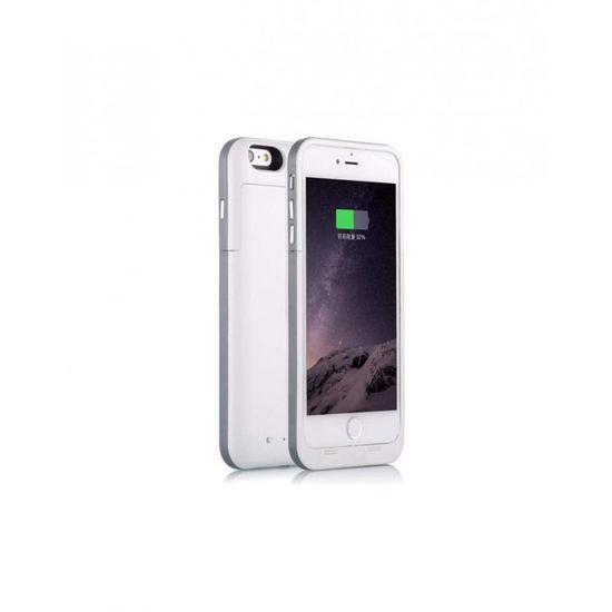 """Image sur Pochette Power Bank Ultra Slim Pour iPhone 6/6s Plus - 5,5"""" - Blanc"""