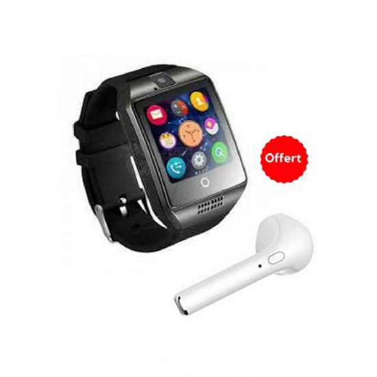 Image sur Montre Connectée - Gris - 6 Mois + Écouteur Bluetooth - Blanc