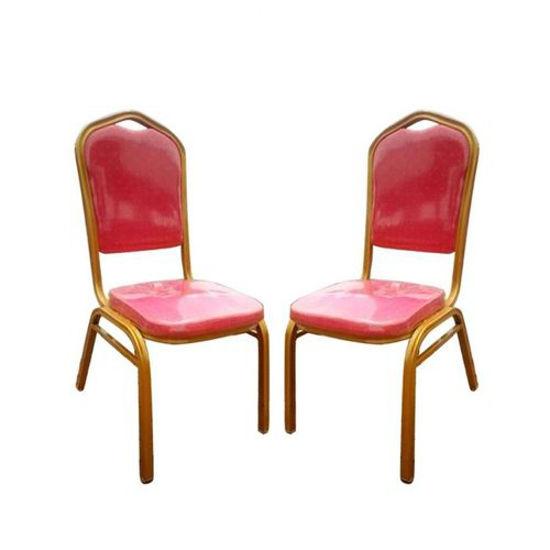 Image sur Chaises de Banquet - 2 Pièces - Rouge Et Or