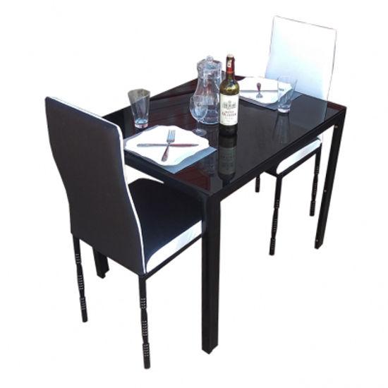 Image sur Salle À Manger Démontable En Verre - Noir et Blanc - Très Solide