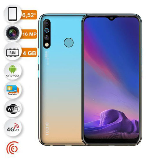 TECNO -CAMON 12 -Smartphone -6,52'' -64 GO/4GO -16Mp -4G -Empreinte digitale -12 mois-iziwaycameroun