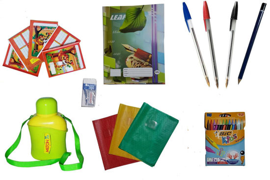 PACK SIL - Cahier + fourniture scolaire + 1 Gourde MILTON petit model