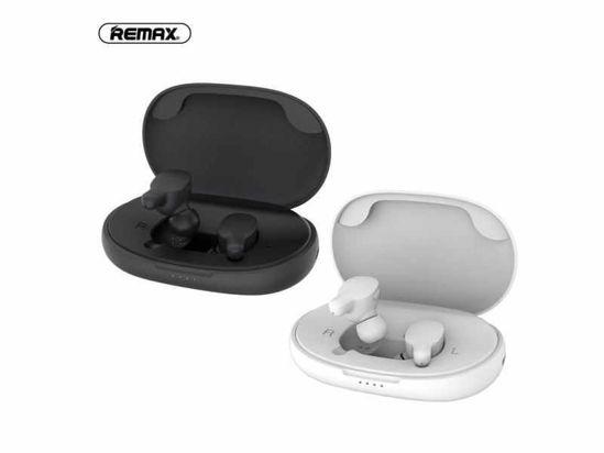 Image sur REMAX TWS-3 écouteurs stéréo sans Fil Bluetooth TWS True Music Noir Et Blanc