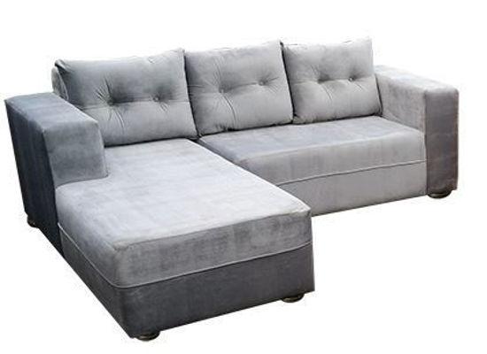 Canapé sofa en velour - 03 places - gris
