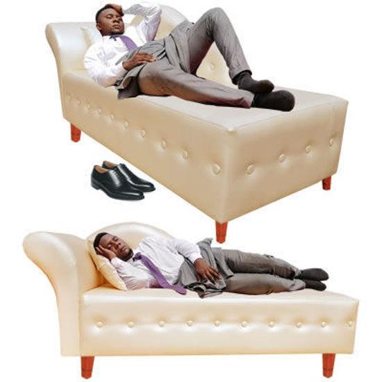 Image sur Canapé de bureau - Cuir - Beige