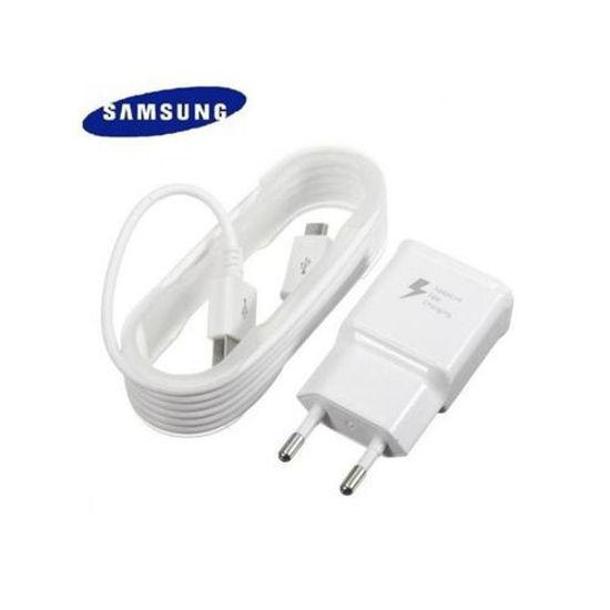 Image sur Chargeur Rapide Biphasé Pour Smartphones Androïd Micro USB - Blanc