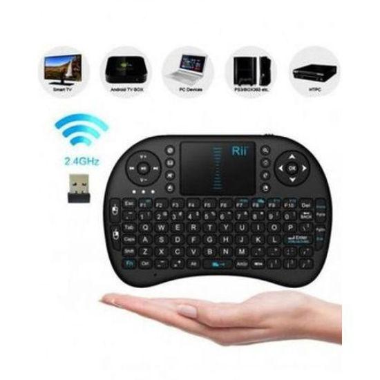 Image sur Mini Clavier Portable Sans Fil - Pavé Tactile Pour Android TV Box - 2,4 GHz - Noir