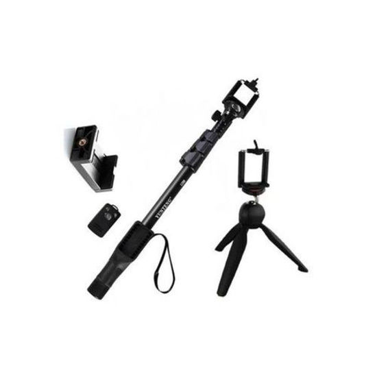 Image sur Perche A Selfie Bluetooth Avec Telecommande Et Support - Noir