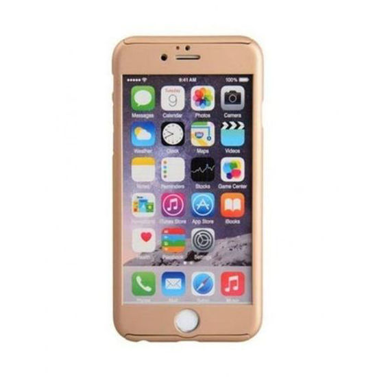 Image sur Pochette 360° Extra Fine Pour iPhone 6 + Ecran de Protection - Jaune Or