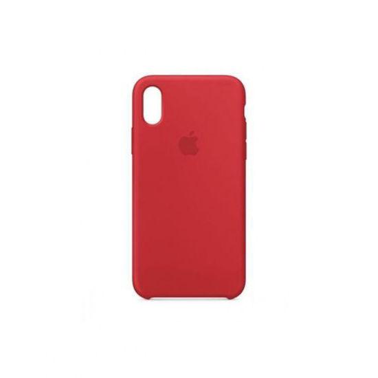 Image sur Pochette En Silicone Pour iPhone X - Rouge