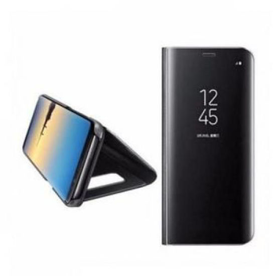 Image sur Pochette Miroir A Vue Dégagée Pour Samsung Galaxy S8 Plus - Noir
