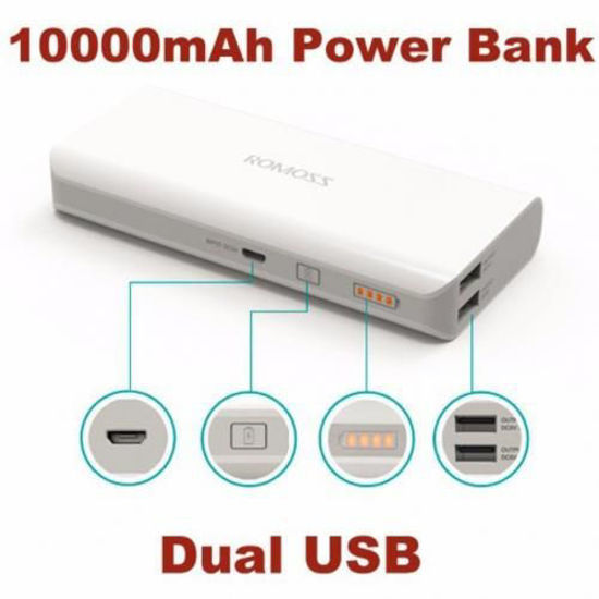Picture of Power Bank Double USB - 10000mah - Blanc