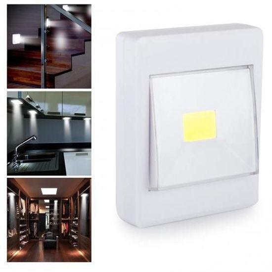 Image sur Spot LED SMD avec interrupteur, lumière avec batterie pour montage avec aimant et velcro - Blanc