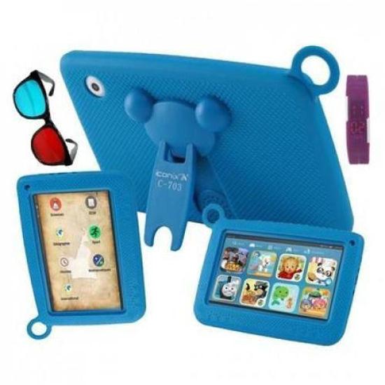 Image sur Tablette Éducative Pour Enfant - 16 Go HDD - 1 Go RAM + Pochette + Protège écran + applications (Maternelle, SIL, CP, CE1, CE2, CM1, CM2, Class1 à Class6) - Bleu