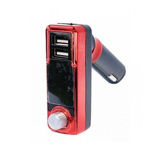 Image sur Transmetteur Audio FM Bluetooth MP3 de voiture 4 en 1- Noir et Rouge