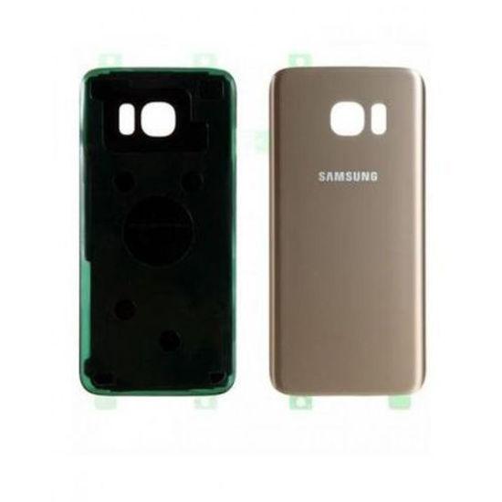 Image sur Vitre Arrière Pour Samsung Galaxy S7 Edge - Jaune Or