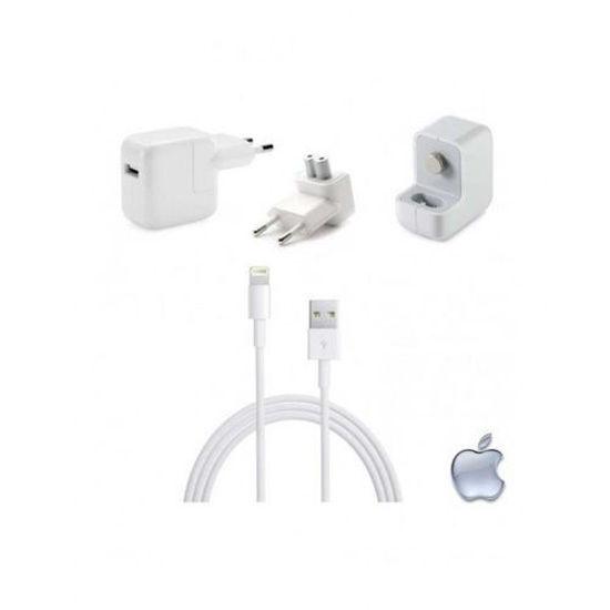 Image sur Chargeur rapide Pour iPad Air / iPhone 5/5s/5c/6/6 Plus/6s/6s Plus/7/7 Plus/8/8 Plus/ X/ Xs Et Xr - Blanc