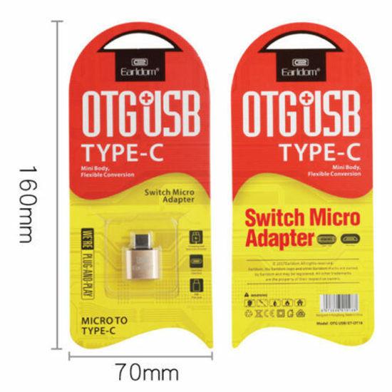 Image sur EARLDOM Adaptateur OTG de ealrdom de Type C à USB, – Tes Appareils USB à Travers du Port Type-c de Ton Portable, Tablette ou Smartphone
