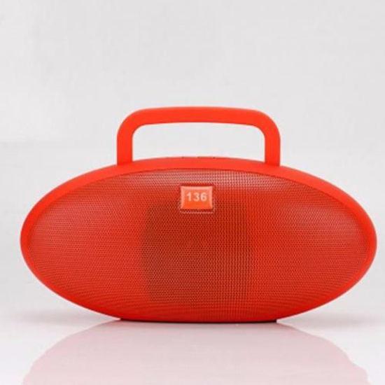 Image sur Haut-parleur Bluetooth super Bass Avec port USB Carte SD et Radio FM - Rouge
