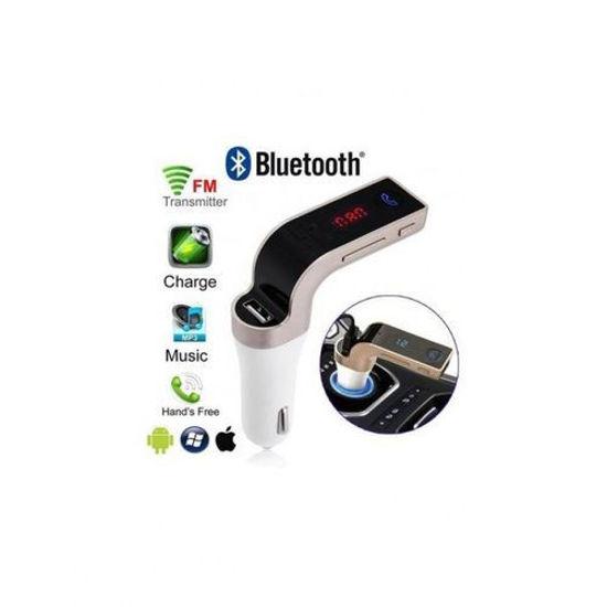 Image sur Kit Pour Voiture - Transmetteur FM Sans Fil - Bluetooth -  5 V - 2.5 A - Blanc Et Or