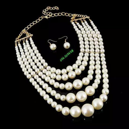Image sur Collier  De perles - Blanc - BTS