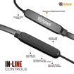 Image sur Flybot Action in Ear, tour de cou Bluetooth sans fil et écouteurs magnétiques, écouteurs de sport résistants à l'eau IPX4, micro intégré (noir)