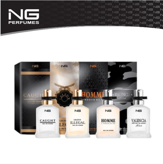 Image sur NG Perfumes Ensemble de 4 parfums assortis pour hommes,