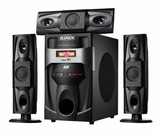 Image sur woofer Bluetooth djack dj-j3L 3.1 X-Bass, Système d'enceintes multimédia pour cinéma maison Bluetooth - Noir