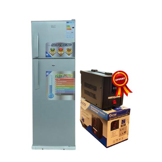 Image sur Réfrigérateur double porte Oscar OSC-R275S - 275L - gris - Garantie 12 mois + Régulateur de tension 500VA Oscar offert