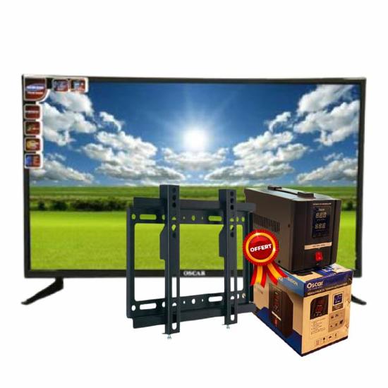 """Image sur Smart TV LED OSCAR 42"""" Numérique HD - Noir - Garantie 12 Mois +  Régulateur de tension 500VA OSCAR et  Support Mural TV - 14''- 42'' offert"""