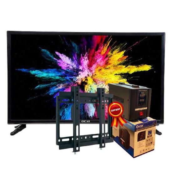 """Image sur Smart TV Oscar 55""""- full HD  - Noir - Garantie 12Mois + Régulateur de tension 500VA OSCAR et  Support Mural TV - 14''- 42'' offerts"""