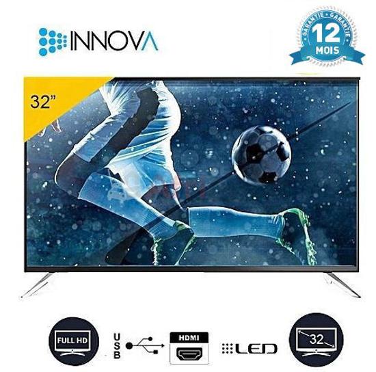 """TV LED INNOVA 32 """" Numérique 32S2 - décodeur et régulateur intégrés - 12 mois sur iziway Cameroun"""