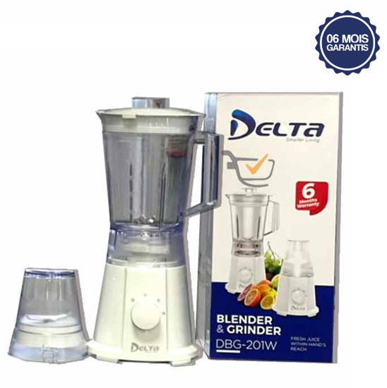 Mixeur Delta DBG-201W - 1,5L - 450W - 2 Bols - 6 Mois Garantis-iziwaycameroun