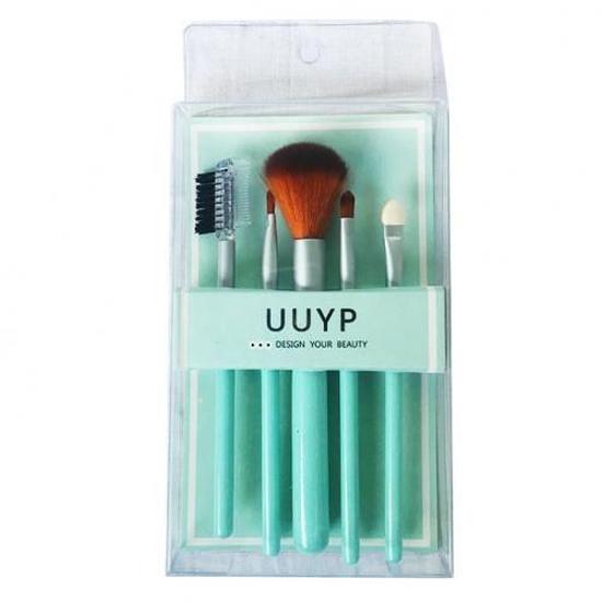 Image sur Coffret Essentiel - 5 Pinceaux De Maquillage - Vert
