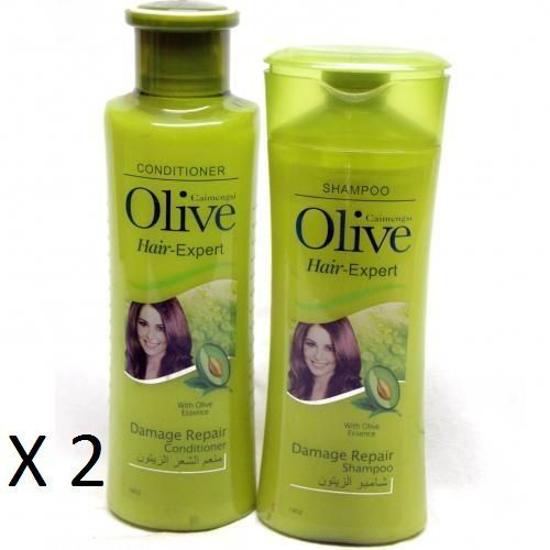 Image sur Pack Traitant A L'Essence D'Olive - Shampoing - 400 ml + Démêlant - 400 ml X 2