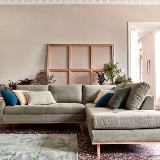 Canapé en L style contemporain quatre places  180 x 160 cm - iziway Cameroun