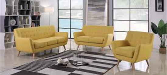 Image sur Salon six places 180X80 jaune