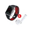 Image sur Montre Connectée M3 - Carte SIM - Bluetooth - Compatible Android/iOS - Rouge Et Noir + Écouteur Noir