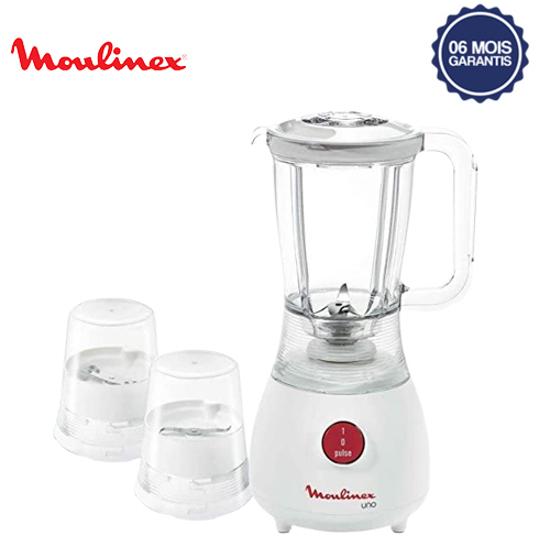 Blender Uno Moulinex LM2221 - 1.25L - 350W -  blanc - 6 mois garantis-iziwayCameroun