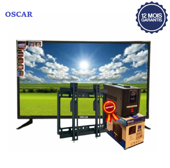 "Image sur TV LED Oscar LED32M31 - 32"" -USB 2.0, Hdmi, Av video in/out- 12 mois garantis"