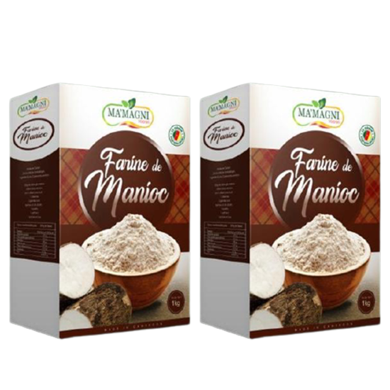 Image sur 02 Paquets - Farine de Manioc - Ma'a Magni - 1kg