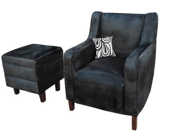 Image sur Canapé + Sofa Luxueux en velour norvégien - Bleu Nuit